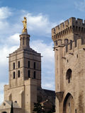 Palais des Papes. (The Pope's Palace) in Avignon ( France) - unesco world heritage site Stock Photo
