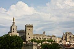 Palais des Papes 免版税图库摄影