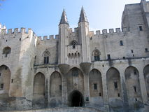 Palais des Papes #3. Palace of popes in avignon, france Stock Photos
