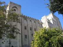 Palais des Papes. Palace of popes in avignon, france Stock Photography