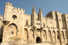 Palais des papes in avignon Stock Photography