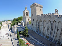 Palais des Papes in Avignon Stock Photos
