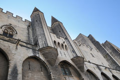 The Palais des Papes in Avignon, France Stock Images