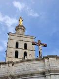 Palais des Papes in Avignon, Frankrijk Royalty-vrije Stock Afbeeldingen