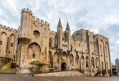 Palais des Papes in Avignon, a UNESCO heritage site, France Stock Photos