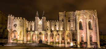 Palais des Papes in Avignon, a UNESCO heritage site Royalty Free Stock Photography