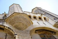 Palais Des Papes, Building Stock Photo