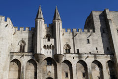 The Palais des Papes facade Royalty Free Stock Photos