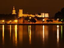 Palais des Papes at night Stock Photo