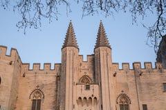 Palais des Papes Palace  Αβινιόν Στοκ Φωτογραφίες