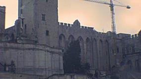 Palais DES Papes von Avignon stock video