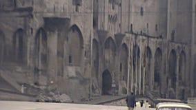 Palais DES Papes von Avignon stock footage