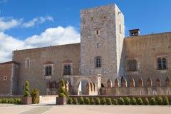 Palais des Rois DE Majorque Stock Afbeeldingen