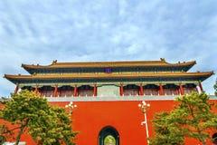 Palais droit Pékin Chine de Gugong Cité interdite de porte de Duanmen photographie stock libre de droits