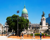 Palais du congrès national argentin Photos libres de droits