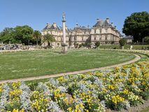 Palais Du Luxembourg in Spring royalty free stock images