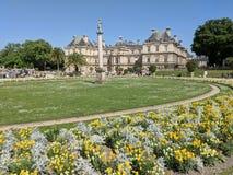 Palais DU Luxemburg im Frühjahr lizenzfreie stockbilder