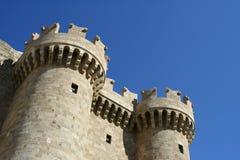 Palais du maître grand dans la ville de Rhodes Photos stock