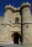 Palais du maître grand dans la ville de Rhodes Photos libres de droits