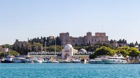Palais du maître grand des chevaliers de Rhodes images libres de droits