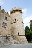 Palais du maître grand des chevaliers de Rhodes, Grèce Image libre de droits