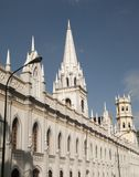 Palais du néo- bâtiment gothique d'académies au centre historique du centre Venezuela de Caracas Image libre de droits