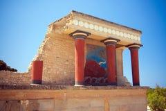 palais du nord de knossos d'entrée Image stock
