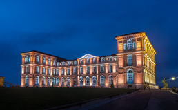 Palais du Pharo in Marseille by night - France.  stock image