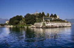 palais ducal de maggiore de lac d'isola de jardins de bella images libres de droits