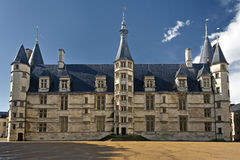 Palais Ducal from Nevers, France. Considered the first castle of Loire Valley, in France, Palais Ducal (Duke's Palace) of Never is situated in the center of the Stock Photos