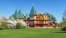 Palais en bois d'Aleksey tzar Mikhailovich, Moscou images libres de droits