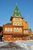 Palais en bois dans Kolomenskoe, Moscou, Russie Photographie stock