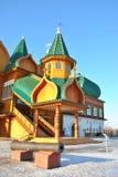 Palais en bois dans Kolomenskoe, Moscou, Russie Photographie stock libre de droits