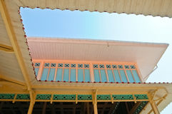 Palais en bois thaï Image stock