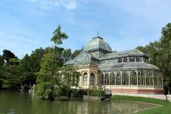 Palais en cristal à Madrid, Espagne Photos stock
