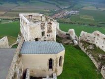 Palais et chapelle au château de Spis Image libre de droits