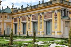 Palais et jardins de Wilanow. Varsovie. La Pologne. image libre de droits