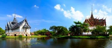 Palais et manoir Dusit de Sanphet Prasat Photographie stock libre de droits