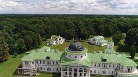 Palais et parc Tarnowski dans Kachanovka banque de vidéos