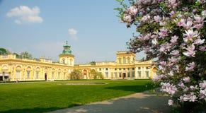 Palais et stationnement de Wilanow à Varsovie Pologne Photographie stock