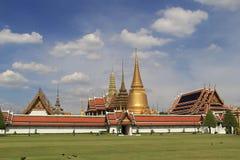 Palais et Wat Phra Kaeo - Bangkok grands fabuleux, Thaïlande Images libres de droits