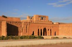 palais för badiel marrakech royaltyfria bilder