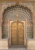 Palais fleuri de ville de Jaipur de trappe Photos libres de droits