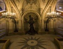 Palais巴黎Garnier、歌剧,内部和细节 免版税图库摄影