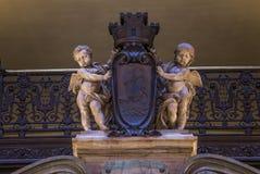 Palais巴黎Garnier、歌剧,内部和细节 库存图片