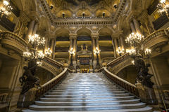 Palais巴黎Garnier、歌剧,内部和细节 免版税库存照片