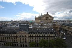 Palais Garnier, ουρανός, ορόσημο, πόλη, οικοδόμηση στοκ εικόνες