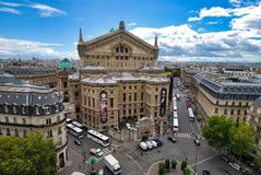 Palais Garnier, πόλη, ορόσημο, μητρόπολη, οικοδόμηση στοκ εικόνα
