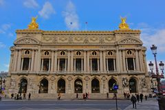 Palais Garnier, construção da ópera de Paris, França Imagens de Stock Royalty Free