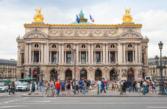 Palais Garnier, Front view of Opera house in Paris Stock Photo